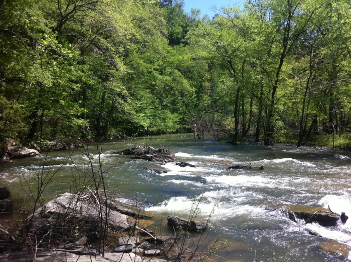 27. Cadron Creek: Several swimming places are at bridge crossings on Cadron Creek at State Fish and Game access points.