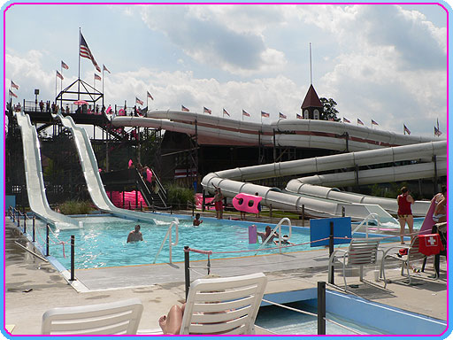 They have 4 large waterslides and a 1000 foot lazy river!