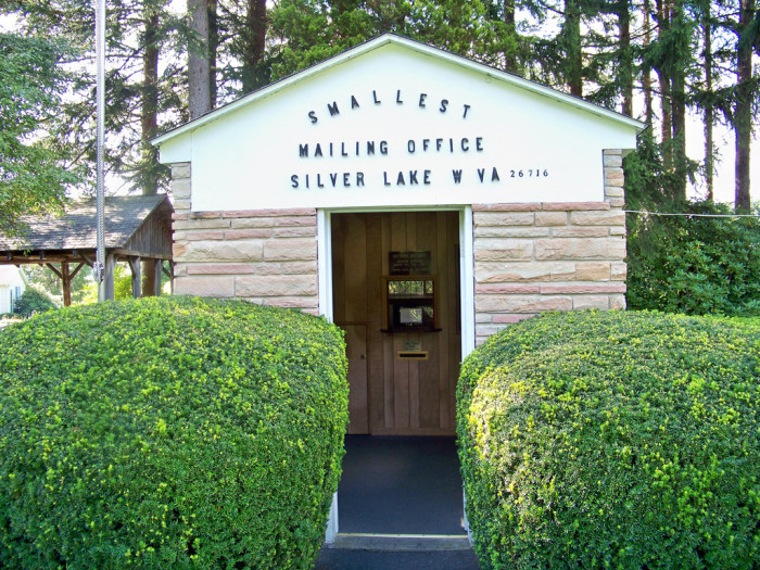 11) The Smallest Post Office is located in Silver Lake, West Virginia.