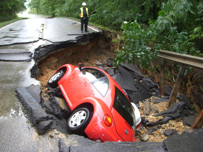 4. And potholes. Yeah, lots of potholes.