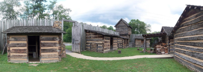 14) Prickett's Fort State Park is in Fairmont, WV.
