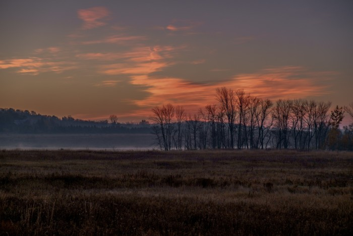 5. You can see the sun begin to rise over Horicon Marsh, located in Dodge and Fond du Lac counties.