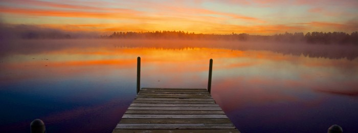 4. Boy...wouldn't this be awesome to wake up to everyday? This is a dock sunrise in Malvern.