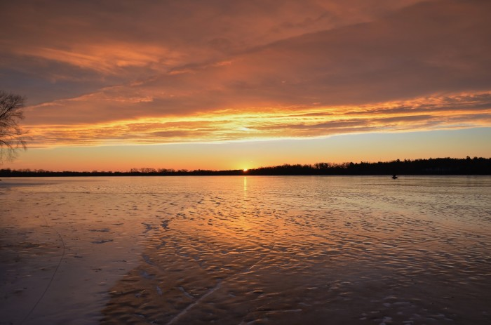 1. What a great shot of the sunrise hitting both the waters of Lake Wingra (Madison) and the clouds above.