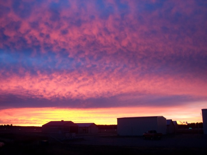 6. Bold, extraordinary colors comprise this sunrise over Phillips.