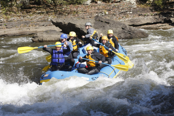 Every fall, the Gauley River is fed by water being released from the Summersville Dam, which calls for the most intense white-water rafting experience that you can find East of the Mississippi River!