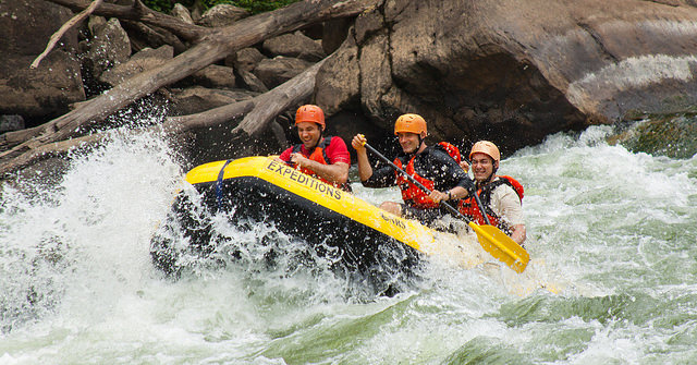 The Gauley River is one of the more intense white-water rafting rivers in West Virginia.