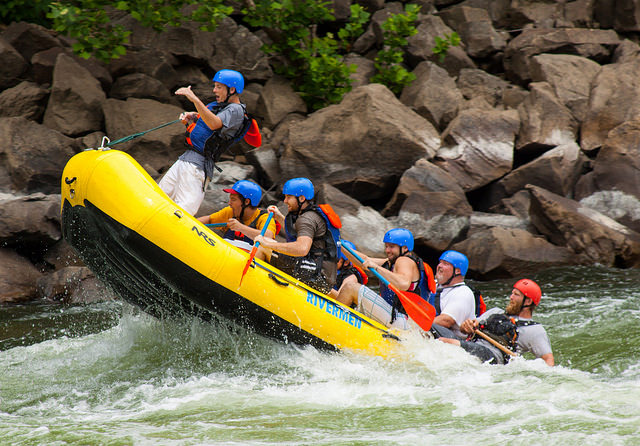 White-water rafting at the Adventures on the Gorge is the experience of a lifetime!
