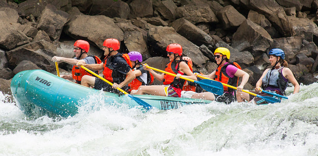 Some parts of the Gauley River require some experience, while other times it is suggested but isn't required.