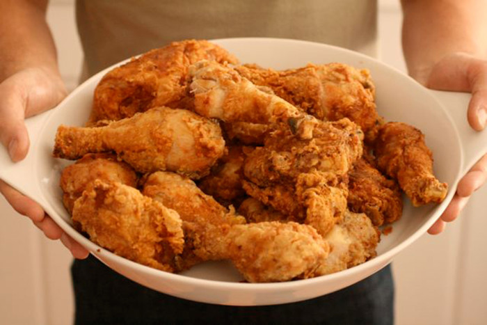 5. Fried Chicken- My mom used to melt Crisco in a large cast iron skillet, season and flour the chicken, and deep fry the pieces to a golden brown with a bit of a scald on it. How I wish she was here to do this now. No one could do it better.