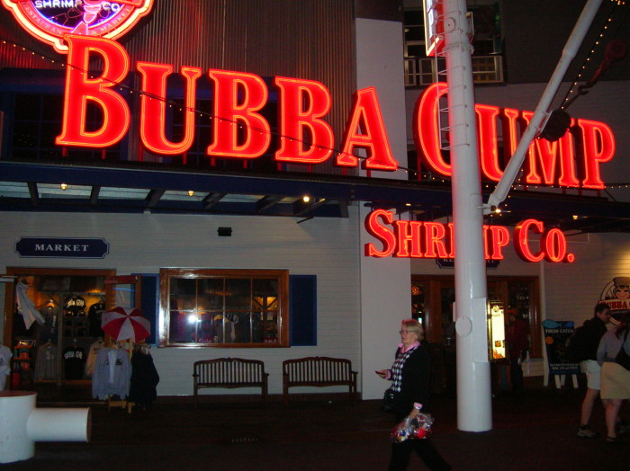 11.) Bubba Gump Shrimp Co. - a restaurant chain inspired by the 1994 film Forrest Gump, with locations all over the world.