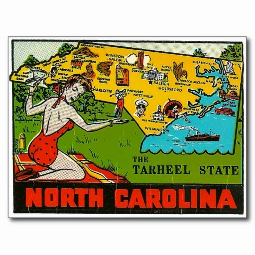 "1. The woman in the red bathing suit says it all, ""look at all of this, yeah, North Carolina is pretty awesome."""