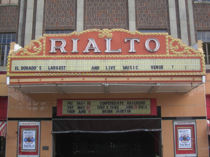 11. The Rialto: The Rialto Theater is a historic performing venue at 117 East Cedar Street in downtown El Dorado, Arkansas. Built in 1929 during El Dorado's oil boom years, the theater is one of the best local examples of Classical Revival architecture, and is one of the largest and most elaborately decorated performing spaces in southern Arkansas.