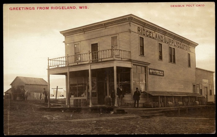 2. This is a picture of the Ridgeland Supply Company Store in Dunn County, Wisconsin circa 1900.