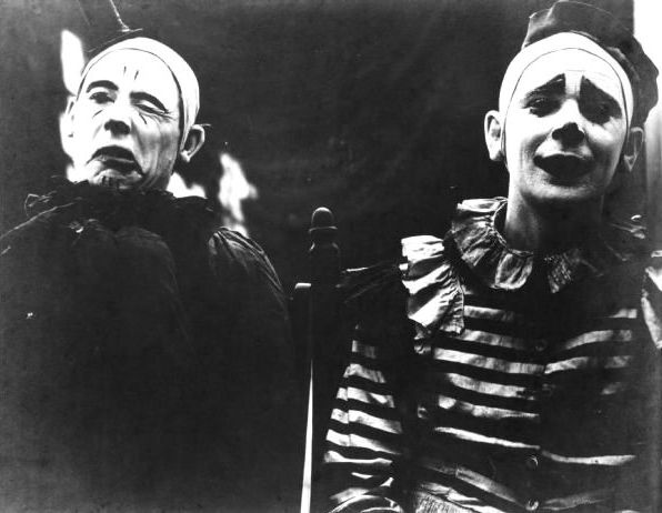 1. The original Ringling Brothers clowns. Somehow more terrifying than clowns today. :(