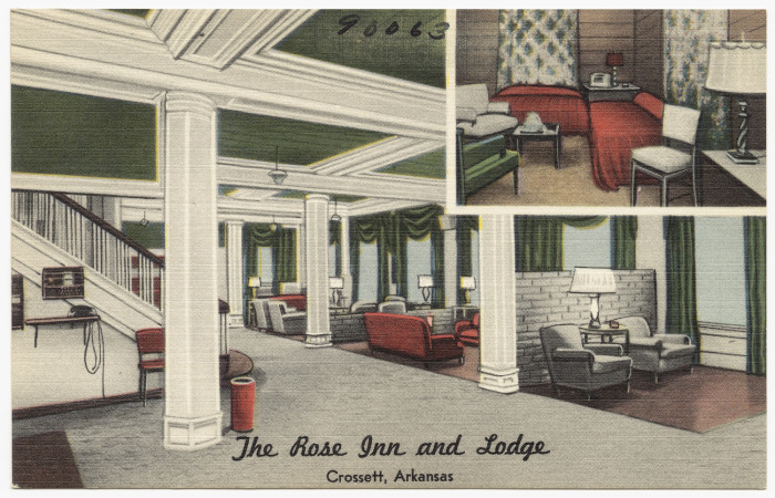 42. Rose Inn and Lodge: In the 1950s The Rose Inn was much in demand by visitors of all sorts for many years.