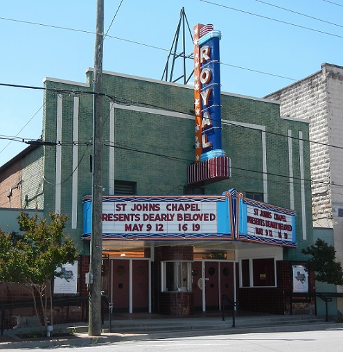 4. Royal Theater: Located at 111 South Market Street in Benton, Arkansas, this structure was built in 1948-49 as an extensive renovation of a prior theater and is already deemed historic.