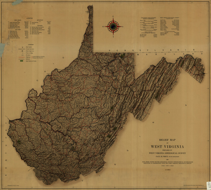 10) West Virginia is the 41st biggest state in America.