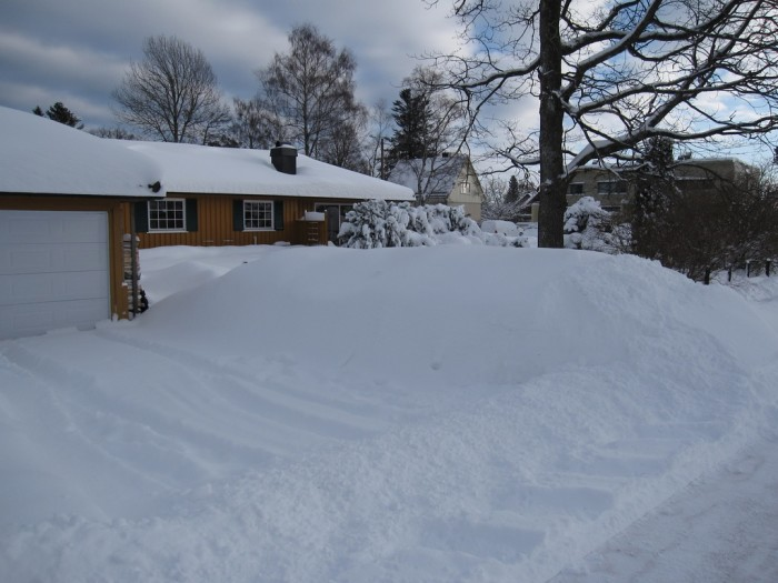 3. Getting snowed in. Yes, snow is a part of life in Wisconsin. If you have enough food and water (and a shovel--that's key), you should be just fine.
