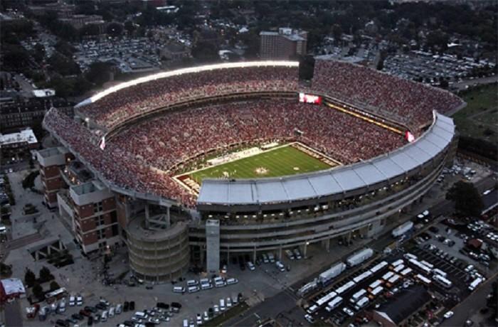 2) Bryant Denny Stadium - Tuscaloosa, Alabama