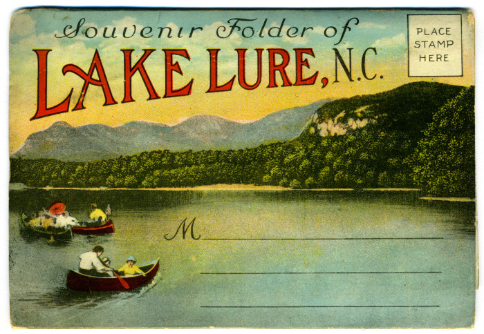 7. This vintage postcard perfectly captures the peace and tranquility of Lake Lure.