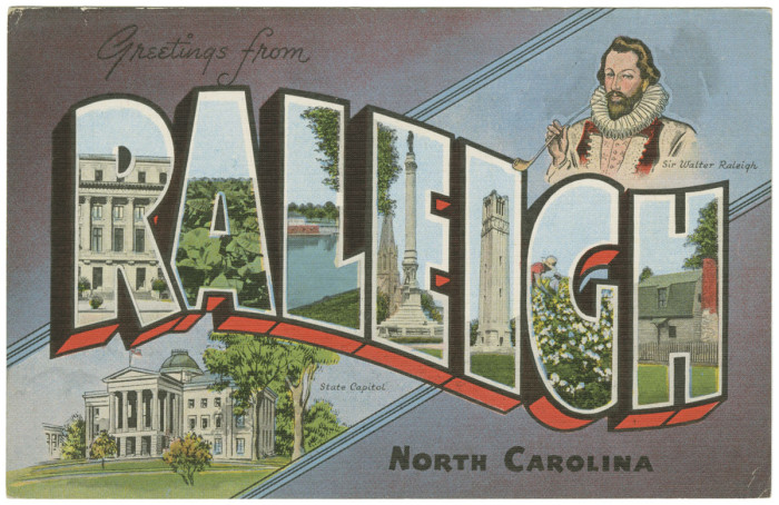 15. Sir Walter Raleigh is totally owning it in this postcard.