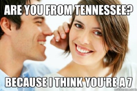 7) Ouch...worst pick-up line ever