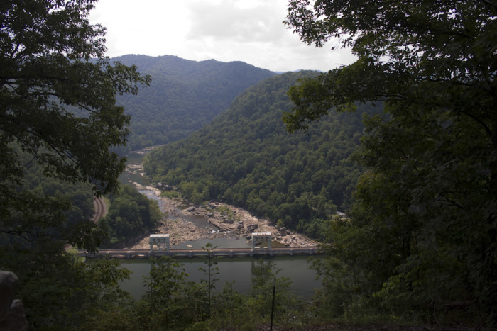 The dam was built to provide water for a hydroelectric plant to energize another plant in Alloy, WV.