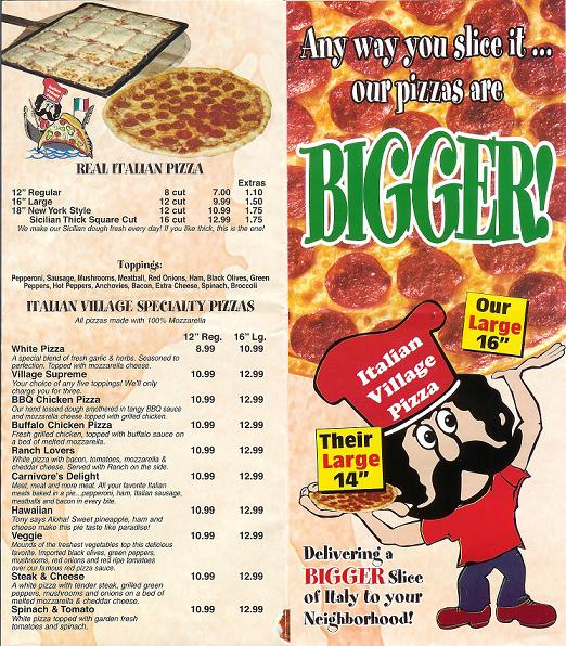 8. Italian Village Pizza