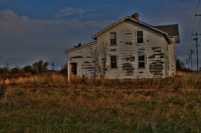 8. This old, abandoned house is in Vinland, Wisconsin.