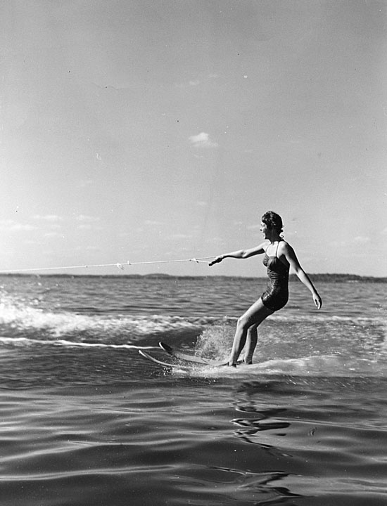 11. Lady water skiing on Lake Mendota in 1950.