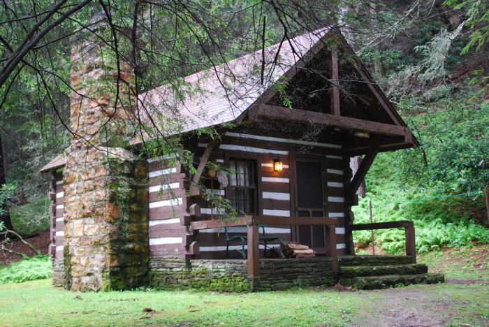 Watoga State Park has 24 incredible cabins if you aren't feeling like sleeping in a tent. But if you are, there is unlimited amounts of space to pitch the tent and grab a sleeping bag!