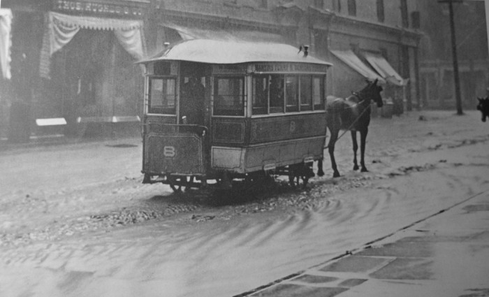 2) Old school transportation in Wheeling, West Virginia, sometime in the early 1900s.
