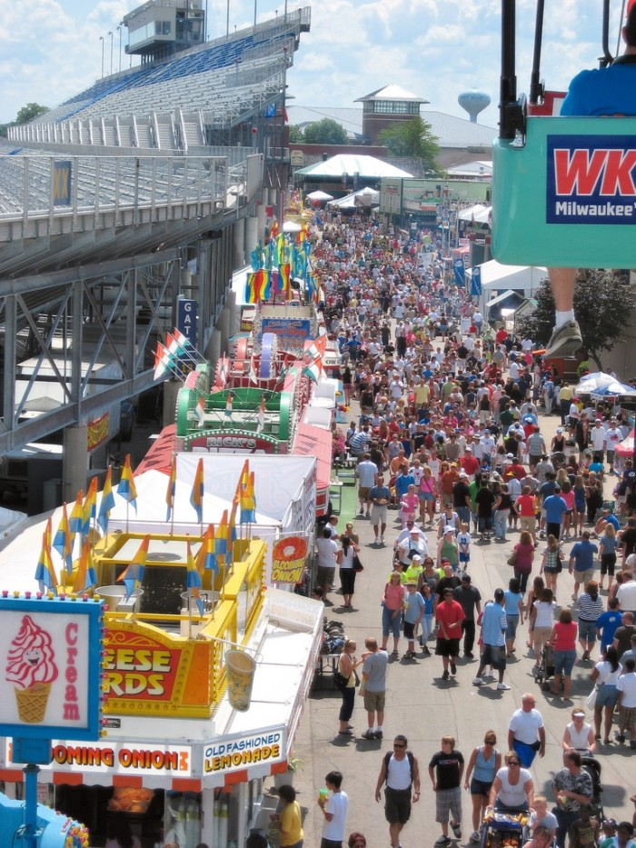 16. Gone to the Wisconsin State Fair. And probably enjoyed at least one cream puff.