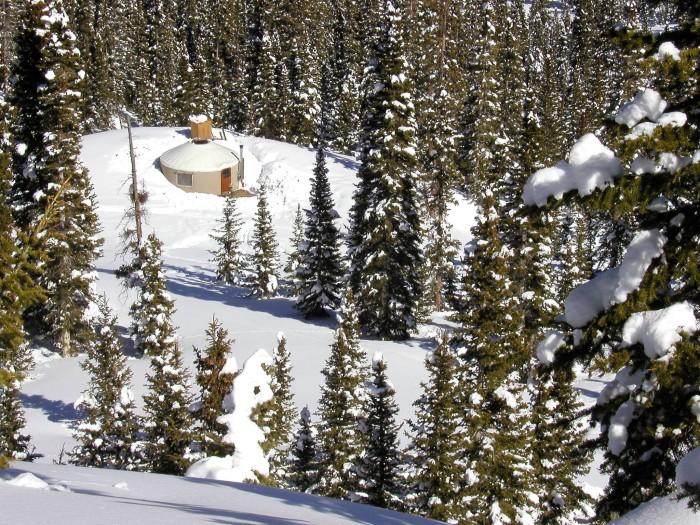 9) Wolf Creek Backcountry's Pass Creek Yurt (Pagosa Springs)