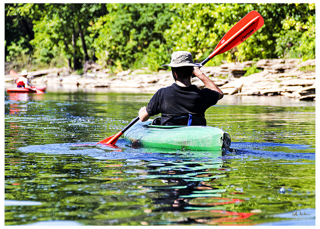 6. Woolum Camp: Located on the Buffalo National River, Woolum camping area is open year round for swimmers and floaters.