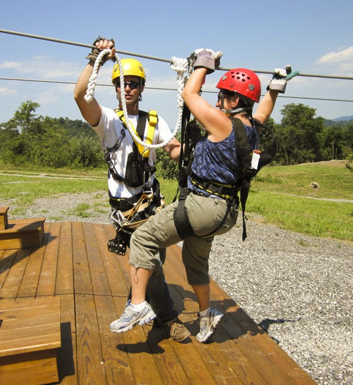 They have zip lining for beginners, experienced, and the advanced! You'd see me at the kiddy-level zip-line!