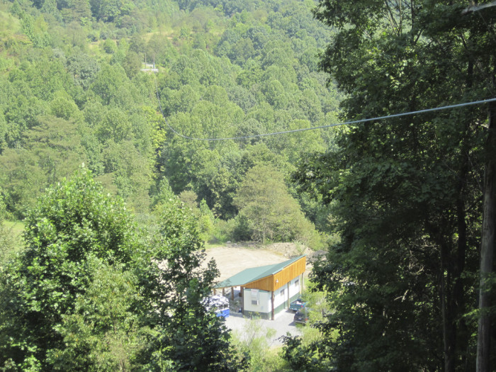 The Gravity zip line is an open-air zip line that is 200 feet above the ground, and is 1.5 miles long!