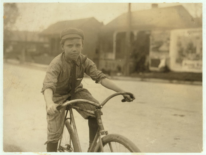 5) Young Boy on Bike, 1913