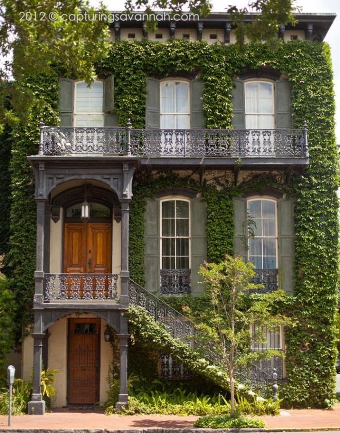 2) The beautiful and historical architecture in Savannah, GA.