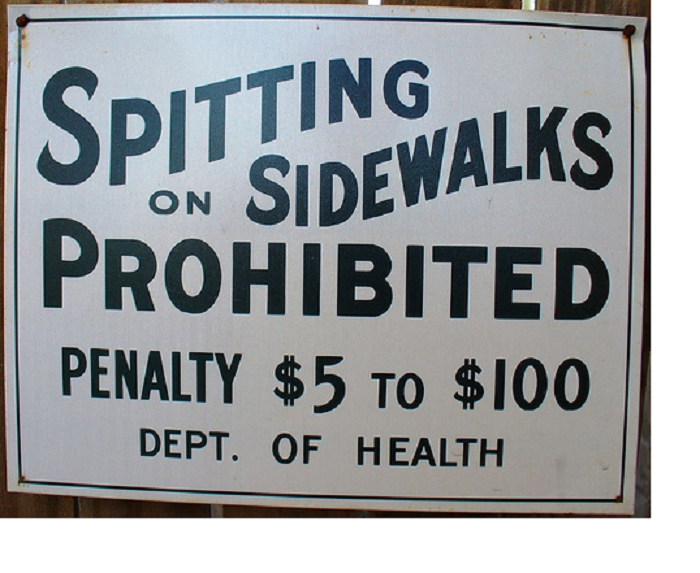 1. You are not allowed to spit on the sidewalks in Terre Haute