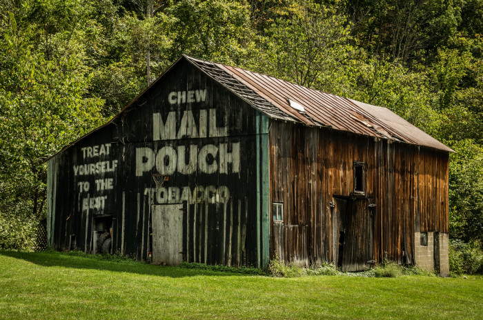 7) Mail Pouch barn along St. Rt. 26, just south of St. Rt. 537 (Monroe County)