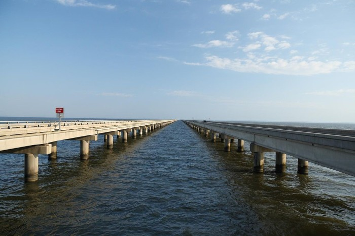 2) The longest bridge over a body of water in the world is across Lake Pontchartrain and is 24 miles long.