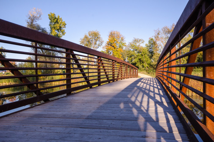 8. This pedestrian bridge in West Medicine Lake Park is great for a walk.