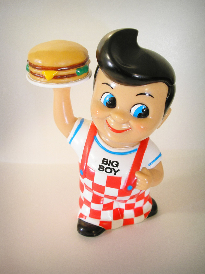 7) Every time you and your family ate at Frich's Big Boy you begged them to buy you one of these banks at the register.