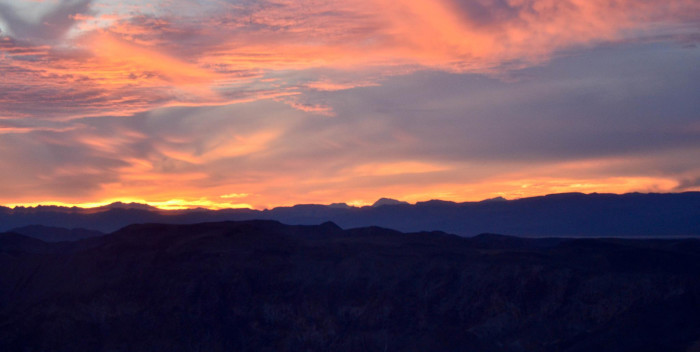 5. Sunset over Lake Mead