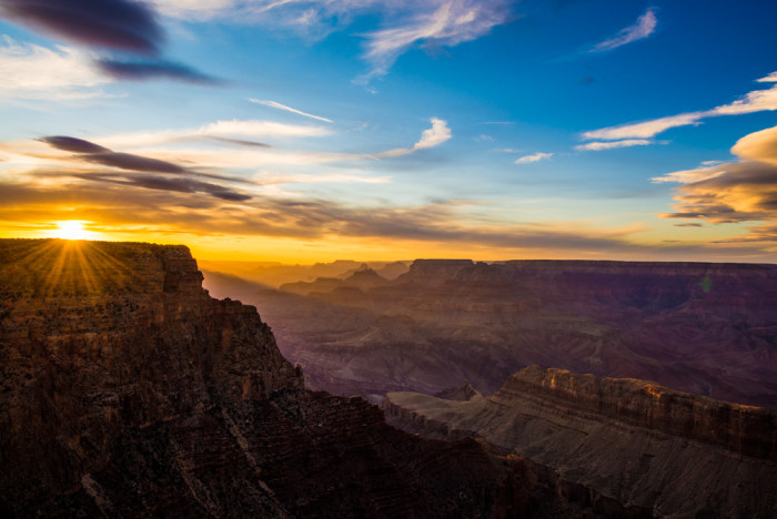 5. Another sunset showing off the Grand Canyon in all its glory.