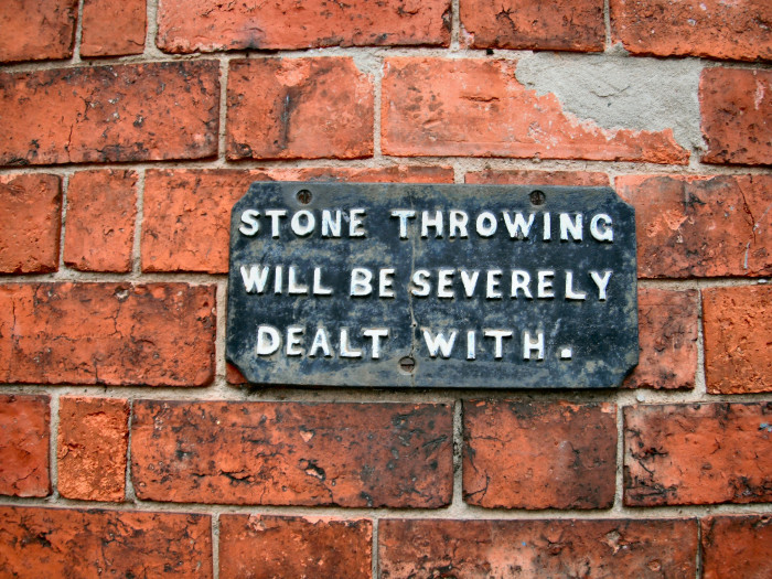 10. In Mount Vernon, one must obtain written permission from the City Council before throwing bricks or stones into a highway.