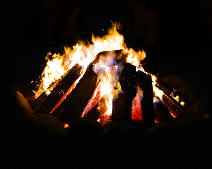 10. End the day with a bonfire