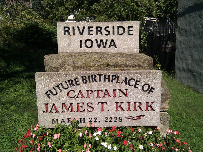 10.  Captain Kirk was born here - in the future